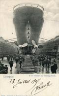 Angleterre Lancashire LIVERPOOL S.S. Oceanic In Graving Dock Belle Animation .- G