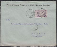 Italy  1924, Cover Trieste To Zagreb W./postmark Trieste - 1900-44 Vittorio Emanuele III