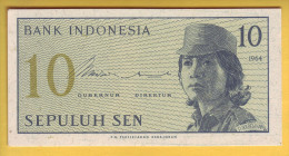 INDONESIE - Billet De 10 Sen. 1964. Pick: 92. NEUF - Indonésie