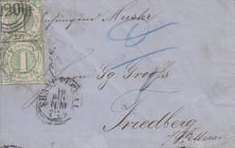 Pli   FRANKFURT    1863 - Tour Et Taxis