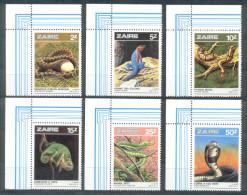Kongo ( Kinshasa ) Zaire 1987 - Michel Nr. 939 - 944 ** - 1980-89: Neufs
