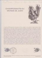 DOCUMENT PHILATHELIQUE  CHAMPIONNATS DU MONDE DE JUDO - Documentos Del Correo