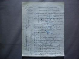 CHEVENNES AISNE COURRIER COMMANDE DU 28 MARS 1922 POUR L´ECOLE LE MAIRE - Historische Dokumente