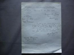 CHEVENNES AISNE ANATOLE CHARPENTIER SECRETAIRE DE MAIRIE COURRIER DU 28 MARS 1922 - Historische Dokumente