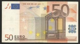 "Greece  ""Y"" 50  EURO ! DUINSEBERG Signature!!  ""Y""   Printer  N001A3 Extr,rare! - EURO"