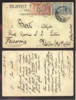 CREMONA - 1921 - BUFFET STAZIONE??- CARTOLINA INTESTATA - Alessandria