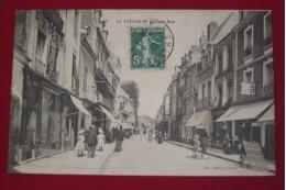 H1 *   La Fléche  La Grande Rue  Carte De  1910  Animation - La Fleche