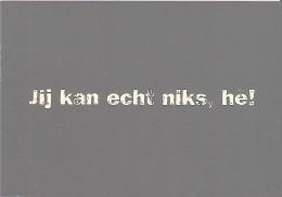 BOOMERANG - JIJ KAN ECHT NIKS, HE! -  AMNESTY INTERNATIONAL - Publicité