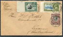 1936 K.U.T. Tanga Silver Jubilee Cover - Luzern Switzerland - Kenya, Uganda & Tanganyika