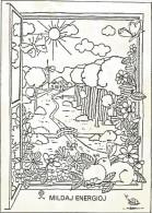 K2216 Esperanto - Mildaj Energioj - Illustrazione Illustration - Nice Stamps Timbres Francobolli / Viaggiata 1991 - Esperanto