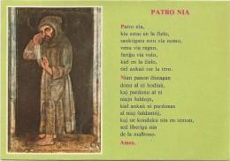 K2217 Esperanto - Patro Nia - Padre Nostro Our Father Notre Pere / Viaggiata 1987 - Esperanto