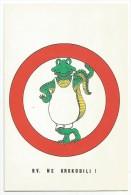 K2219 Esperanto - Krokodili Coccodrillo Crocoile - Illustrazione Illustration / Non Viaggiata - Esperanto