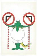 K2220 Esperanto - Krokodili Coccodrillo Crocoile - Illustrazione Illustration / Non Viaggiata - Esperanto
