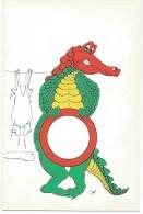 K2222 Esperanto - Krokodili Coccodrillo Crocoile - Illustrazione Illustration / Non Viaggiata - Esperanto