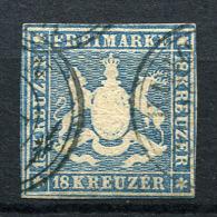 27391) W�RTTEMBERG # 10 gestempelt GEPR�FT aus 1857, 1.700.- �