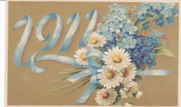 CARD BUON ANNO MARGHERITE E NON TI SCORDAR DI ME  MYOSOTIS GROSSO FIOCCO CHE FORMA 1911 -FP-V-2-0882-22481 - New Year