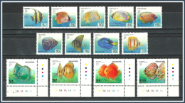 Singapore 2001 - 2002 ( Tropical Fish ) - Complete Set - MNH (**) - Singapur (1959-...)