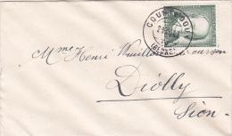 Pro-Juventute : Petite Lettre Oblitérée COURTEDOUX Le 29.XI 1943, A Destination De Diolly ( Sion ) - Briefe U. Dokumente