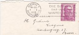 Pro-Juventute : Petite Lettre Oblitérée BERN Le 1.1.1938 - Pro Juventute