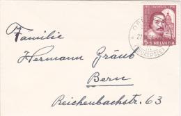 Pro-Juventute : Petite Lettre Oblitérée OBERBURG Le 4.1.1956 - Pro Juventute