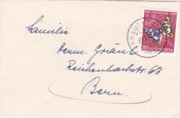 Pro-Juventute : Petite Lettre Oblitérée KRAUCHTHAL Le 29.12.1956 - Covers & Documents