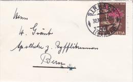 Pro-Juventute : Petite Lettre Oblitérée SIRNACH Le 30.12.1948 - Pro Juventute