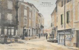 La Drôme Illustrée - Bourdeaux En Hiver - Place De La Recluse Et Rue Du Pont - Edition Ernest Guigues - Carte Colorée - Frankreich