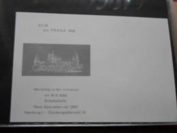 GERMANY 1968  BUW  Pro Praga  1968  -Hamburg    FDC95 - FDC: Feuilles