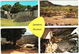 Zimbabwe - Rhodesia - Multiview; Zimbabwe Ruins, Conical Tower, Central Area & Valley Of Ruins - Zimbabwe - Zimbabwe