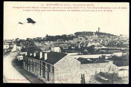 Cpa Du 91 Montlhéry Vue Générale Côté Est , Passage De L' Aviateur Morane    PY20 - Montlhery