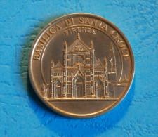 Jeton Touristique Basilica Di Santa Croce - Firenze - Medaglie E Patrimonio - Altri