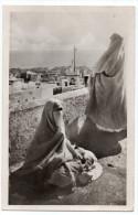 Alg�rie--1948--Mauresques sur leur terrasse ,cpsm 14 x 9  n� 39 �d Photo-Africaines---timbre au verso