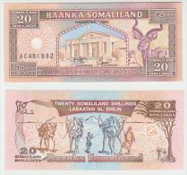 Somaliland 20 Shillings 1994 Pick 3 UNC - Somalia