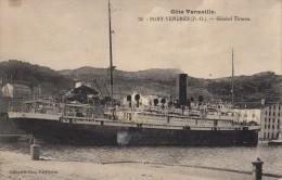 Thématiques 66 Pyrénées Orientales Port Vendres Bateau Général Tirman Superbe Timbre  8 Olympiade 1924 Au Dos - Port Vendres