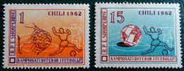 COUPE DU MONDE DE FOOT AU CHILI 1962 - NEUFS ** - YT 581 + 584 - MI 673 + 676 - Albania