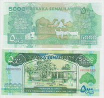 Somaliland 5000 Shillings 2011 Pick 21 UNC - Somalia