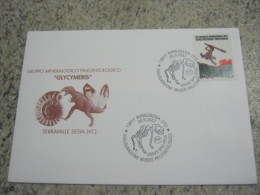 V2 ITALY CANCEL ANNULLO - 2007 BORGOSESIA VERCELLI MUSEO PALEO SCHELETRO ORSO BEAR URSUS SPELAEUS FOSSIL