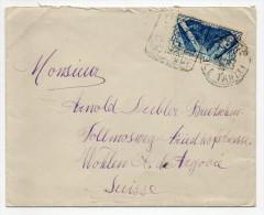 ENVELOPPE De PAPEETE (OCEANIE / TAHITI) Avec SEUL + DAGUIN Pour La SUISSE - Ozeanien (1892-1958)