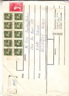 Lituanie - Lettre Recommandée De 1991 ° ? - Chevaux - Soldats - épées - NON Dentelés - Oblitération Kaunas - Lithuania