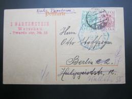1919 ,  Warschau,      , Karte - 1919-1939 Republic