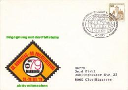 PU 108/82a  Begegnung Mit Der Philatelie - 33 Bundestag - 80 Philatelistentag 1978, Essen 1 - Privatumschläge - Gebraucht
