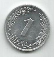Tunisia Tunisie 1 Millim 1960. - Tunisie
