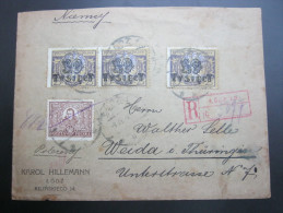1923 , LODZ,    Brief   ,  2 Scans - 1919-1939 Republic