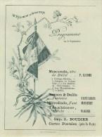 16 ème Régiment D´Infanterie - Montbrison Et Clermont-Fd. - **Programme Illustré - Fête Du Rgt. Fin XIX  **(10 X 13 Cm) - Documenten