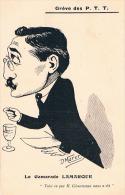 FRANCE C.P.A EVENEMENT GREVE DES PTT   Le Camarade LAMARQUE  (illustrateur Morer) - Grèves
