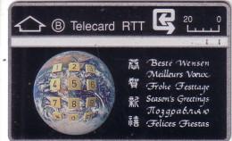 BELGIQUE RTT MEILLEURS VOEUX PLANETE TERRE EARTH  N� 811F.... A L'ENDROIT UT