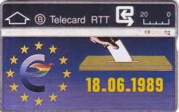 BELGIQUE RTT ELECTIONS EUROPEENNES 18.06.1989 N� 804D.... UT