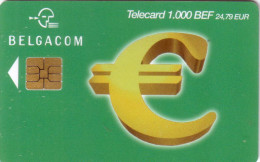 BELGIQUE CARTE EURO SIGLE BILLET BANQUE BANK NOTE LOGO 1000 BEF UT RARE