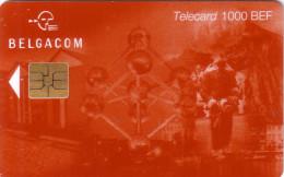 BELGIQUE CP18 ATOMIUM BRUXELLES 30.06.2001 1000 BEF UT RARE