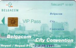 BELGIQUE PRIVEE CITY CONVENTION HEYSEL VIP PASS 50F RARE